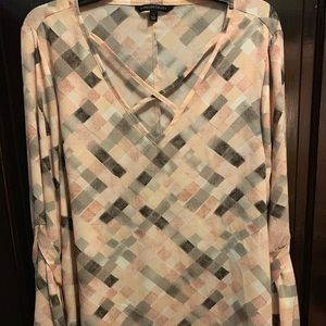 Signature Studio Pink/Grey Pastel Blouse